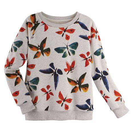 Watercolor Butterflies Sweatshirt