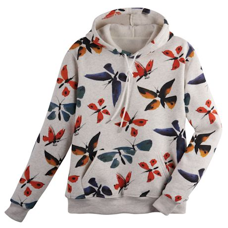 Watercolor Butterflies Hoodie