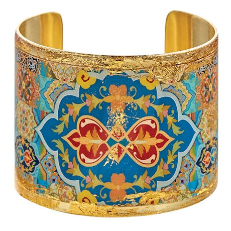 Gold Leaf Arabesque Cuff Bracelet