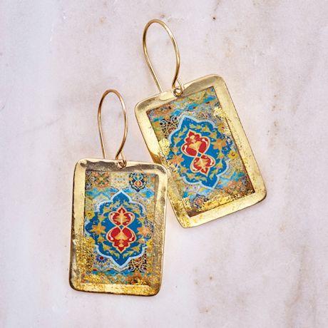 Gold Leaf Arabesque Cuff Earrings