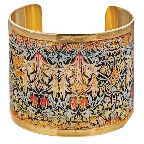 Gold Leaf William Morris Cuff Bracelet
