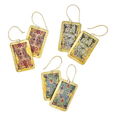 Gold Leaf William Morris Earrings