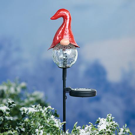 Solar Gnome Garden Stake