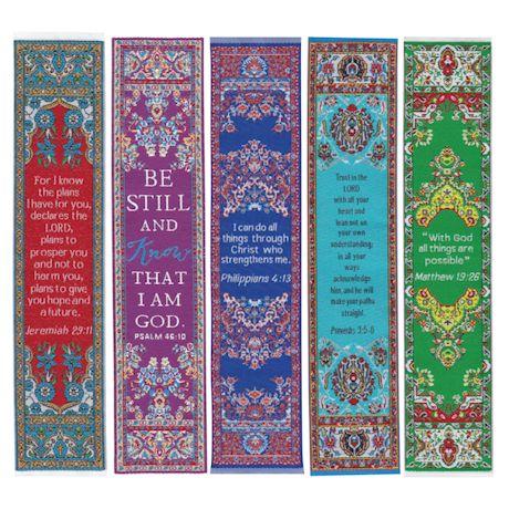 Bible Verses Woven Bookmarks Set