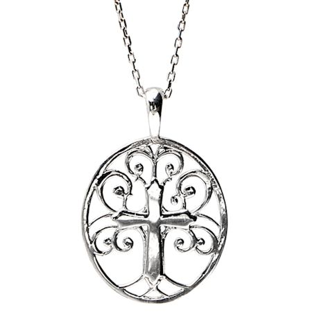 Tree of Life Cross Necklace