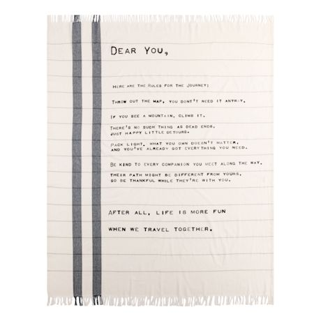 Dear You Journey Blanket