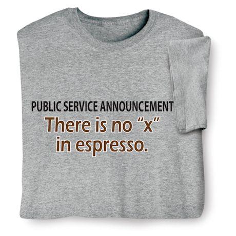 Public Service Announcement Shirts
