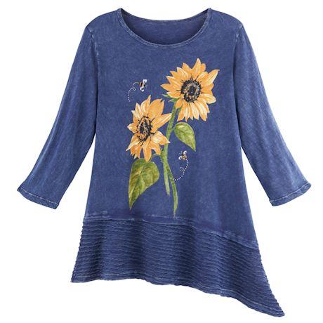 Sunflowers Asymmetrical Tunic