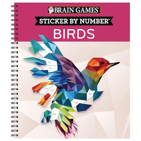 Sticker by Number Book - Birds