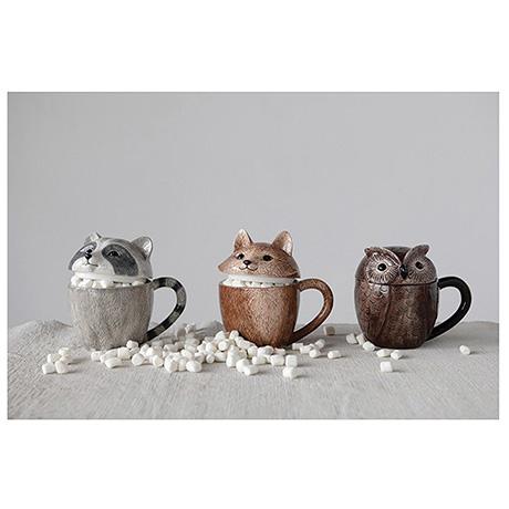 Woodland Friends Lidded Mugs Set