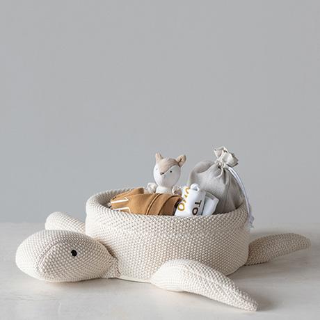 Cotton Knit Turtle Basket