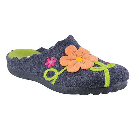 Floral Wool Indoor Outdoor Slippers
