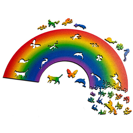 Rainbow  Laser Cut Wood Puzzle