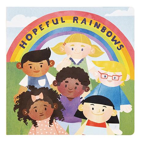 Hopeful Rainbows Wooden Dolls and Book Set