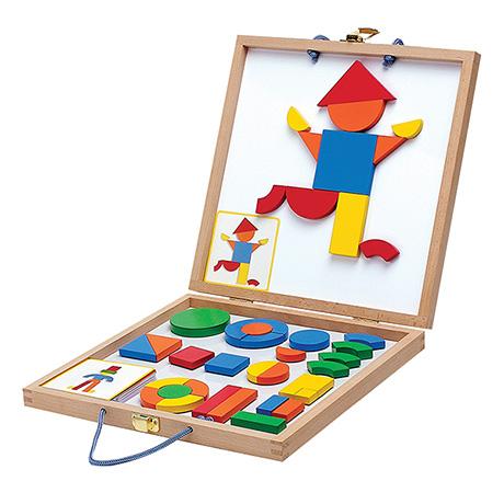 Geoform 42-Piece Wooden Magnetic Game