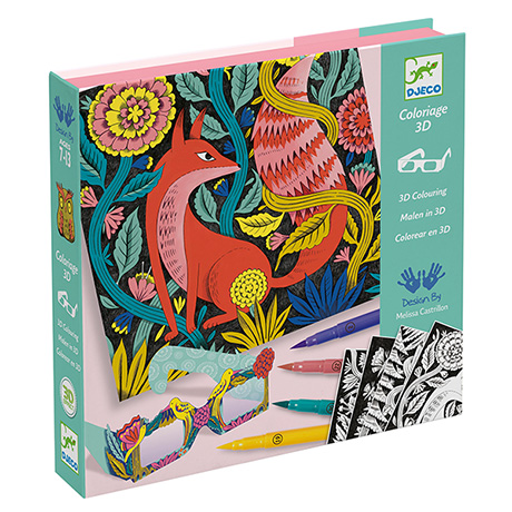 Fantasy Forest 3-D Coloring Kits