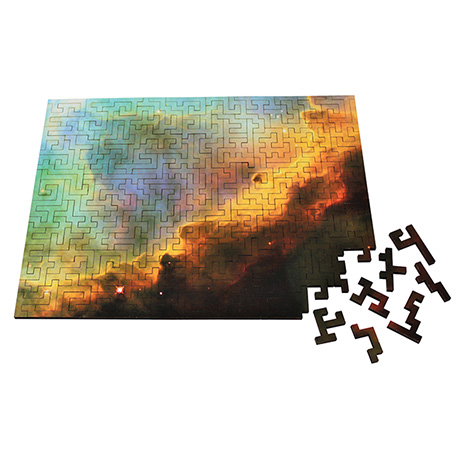 Omega Nebula Wooden Geometric Jigsaw Puzzle