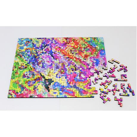 Confetti Geometric Wooden Puzzle