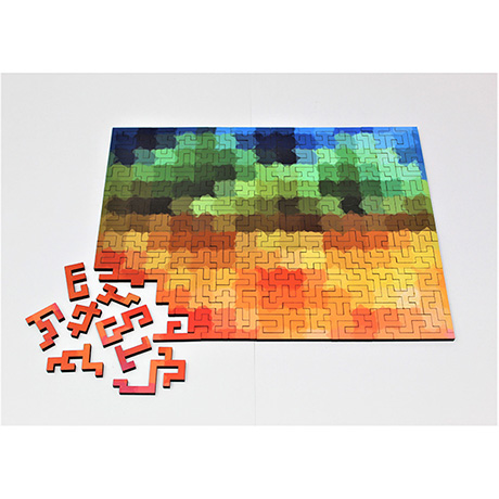 Multicultural Geometric Wooden Puzzle