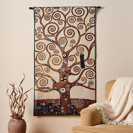 Gustav Klimt Tree of Life Tapestry