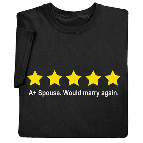 Five Stars, Would Marry Again Shirts