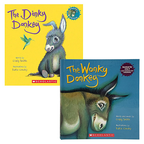 Wonky Donkey & Dinky Donkey Hardcover Books