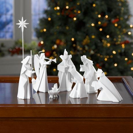 Porcelain Origami Nativity Scene