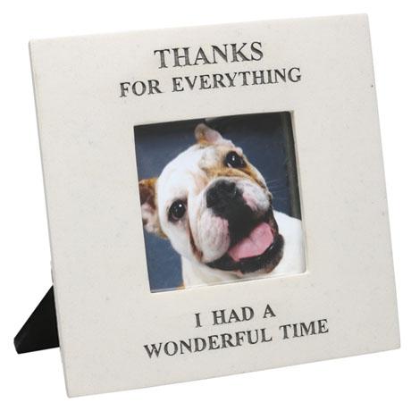"""Thanks For Everything"" Memorial Frame - 3.5"" x 3.5"" Photos"