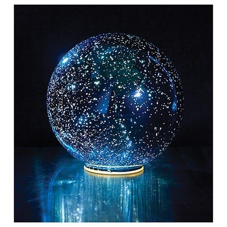 Lighted Blue Crystal Ball