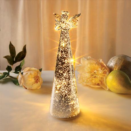 Lighted Mercury Glass Angel