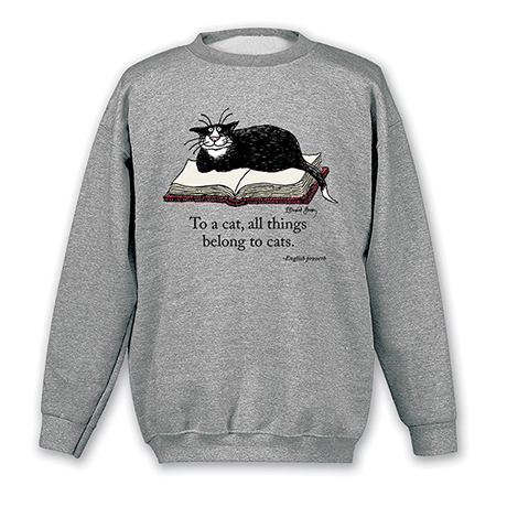 "Edward Gorey - ""To A Cat"" Sweatshirt"
