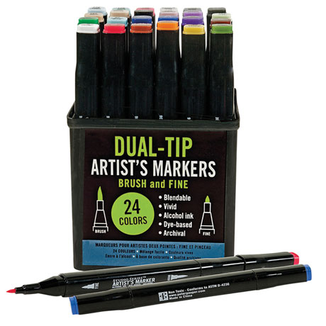 Dual-Tip Artist's Markers Set