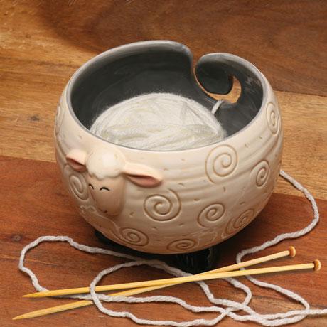 Sheep Shaped Yarn Knitting & Crochet Bowl