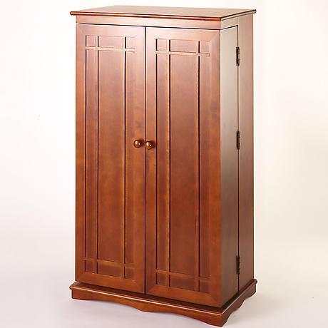 Solid Oak Media Storage Cabinet
