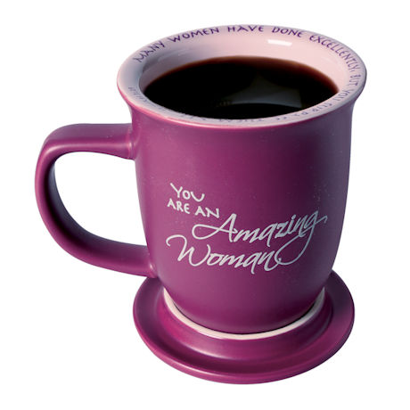 "Proverbs 31:29 ""Amazing Woman"" Mug & Coaster Set"