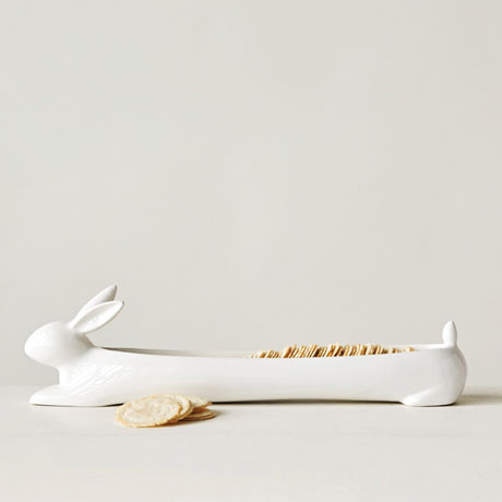 White Rabbit Cracker Dish