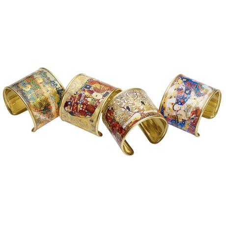 Gustav Klimt/Vincent Van Gogh Gold-Flecked Cuff Bracelet