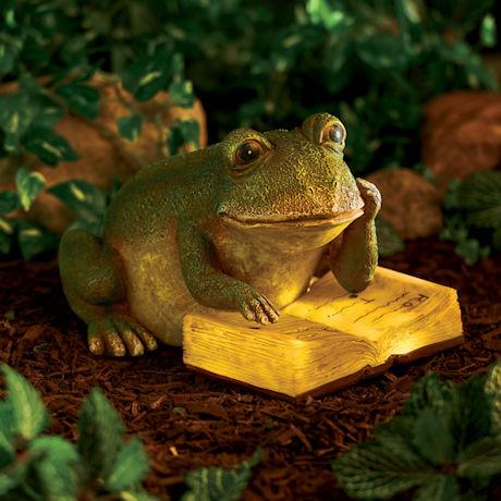 Solar Reading Frog
