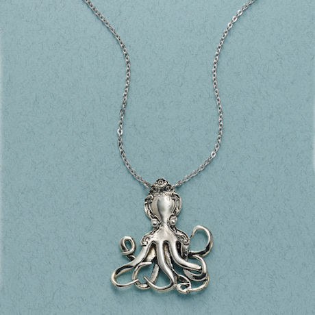 Silver Spoon Octopus Necklace