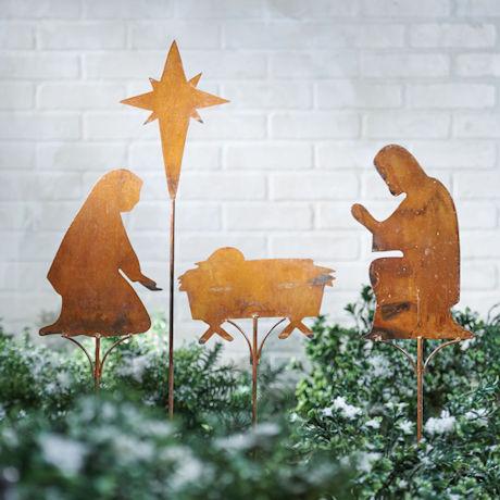 Nativity Scene Yard Stakes Set