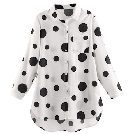 Polka-dot Tunic Shirt