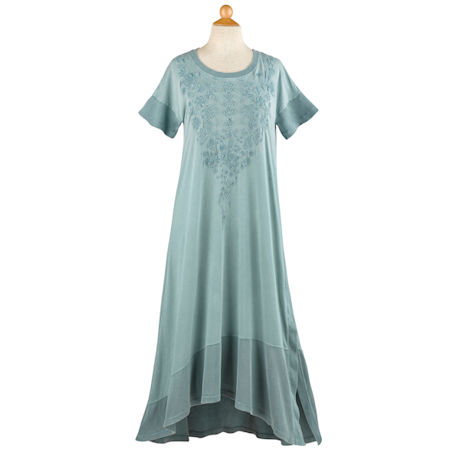 Embroidered T-Shirt Dress