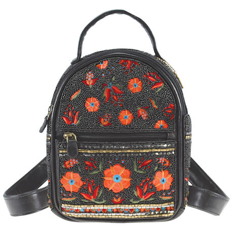 Mary Frances Mini Beaded Backpack