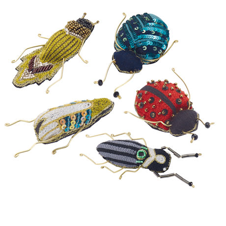Embellished Bug Brooches