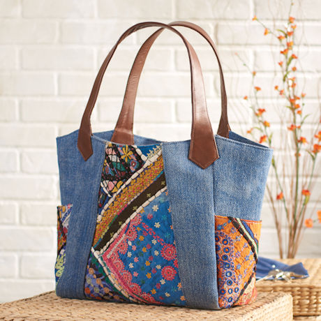 Denim Banjara Carryall Tote Bag
