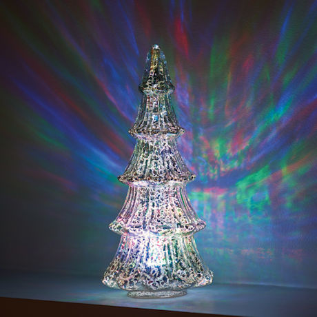 Lighted Mercury Glass Tree
