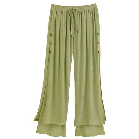 Summer Leaves Flood Pants - Green