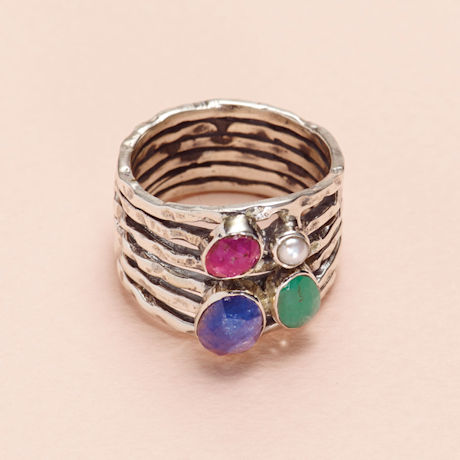 Precious Stacked Cluster Ring