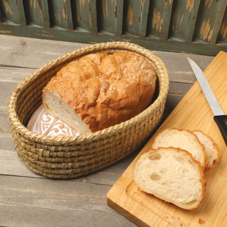 Fair Trade Vines Bread Warmer and Basket