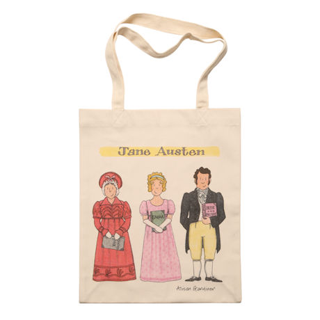 Jane Austen Famous Characters Tote Bag